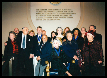 Back Row (L-R) Jeffrey Eric Jenkins, Debra Monk, Melvin Bernhardt, Katie Bowe, Susan Hilferty & Frank Rich Mid-Row (L-R) Irma Oestreicher, Donald Saddler, Honoree Jon Jory, Marian Seldes, Honoree Mary Alice, Madeline Lee Gilford Seated on Chair (L-R) Lloyd Richards, Honoree June Havoc, Joy Abbott