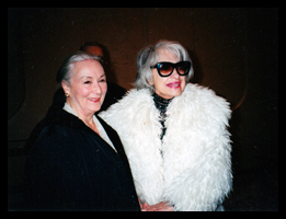 Rosemary Harris and Carol Channing